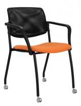 židle WENDY síť na kolečkách, kostra černá