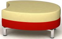 designový taburet ORO K124-6-T kombinovaný
