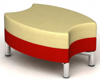 designový taburet ORO K124-2-T  střední část vykrojená