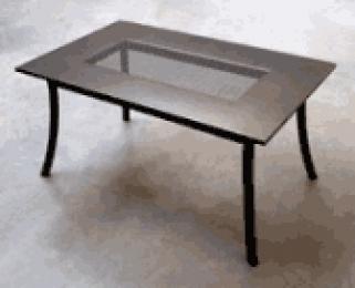 Kovový zahradní stůl PL 145x90cm - U512