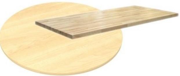 TEKTONA Deska - ovál 90x160 cm (18 mm)