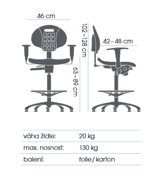 židle TECHNOLAB 1630  kancelárská stolička