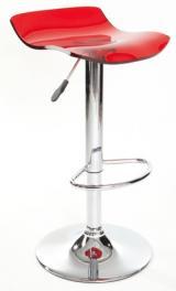 barové židle BOLT barva vínová průhledná