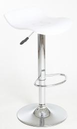barová stolička BOLT farba bílá průhledná