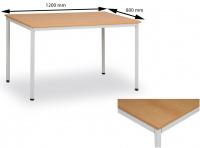 Jídelní stůl 120 x 80 cm deska buk