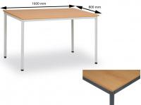 Jídelní stůl 160 x 80 cm deska buk