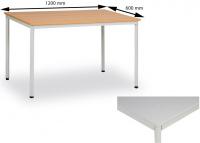 Jídelní stůl 120 x 60 cm deska šedá