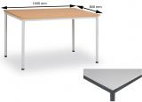 Jídelní stůl 160 x 80 cm deska šedá