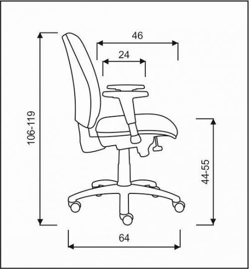 židle LARA E-SYNCHRO  kancelárská stolička