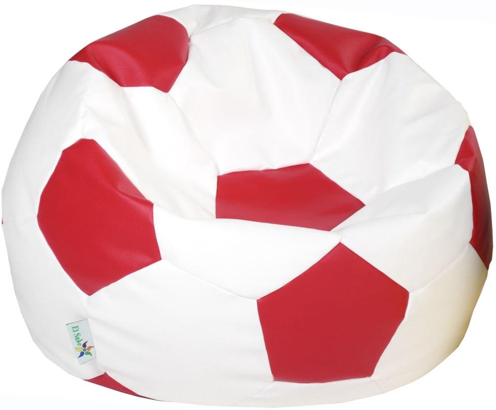 EL SAKC sedací vak EUROBALL MEDIUM bílo-červený