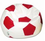 sedací vak EUROBALL MEDIUM, SK2-SK7 bílo-červený