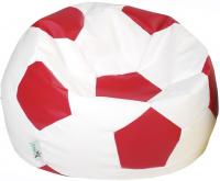 Sedací vak EUROBALL MEDIUM, SK2-SK7 bielo-červený