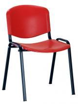židle ISO plast, kostra černá