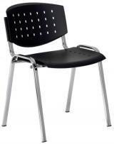 židle LAYER chrom / šedá kancelárská stolička