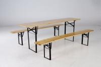 Pivní set stůl 50š + 2 lavice