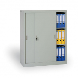 Archivační skříň se zasouvacími dveřmi 186303 šedá