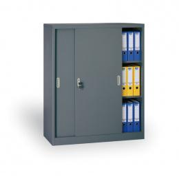Archivační skříň se zasouvacími dveřmi 186307 antracit