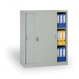 Archivační skříň se zasouvacími dveřmi 186304 šedá