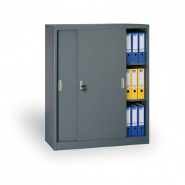 Archivační skříň se zasouvacími dveřmi 186308 antracit