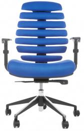 kancelářská FISH BONES černý plast,modrá látka TW10