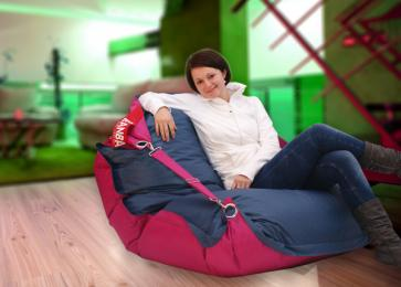 BeanBag duo pink - jeans