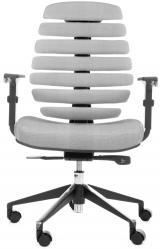 židle FISH BONES černý plast., šedá látka s černou mřížkou SH04 kancelárská stolička