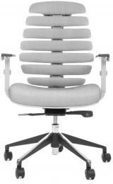 stolička FISH BONES šedý plast,šedá látka s černou mřížkou SH04