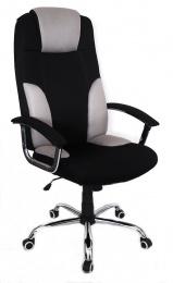 křeslo MIAMI světle šedá-černá kancelárské kreslo