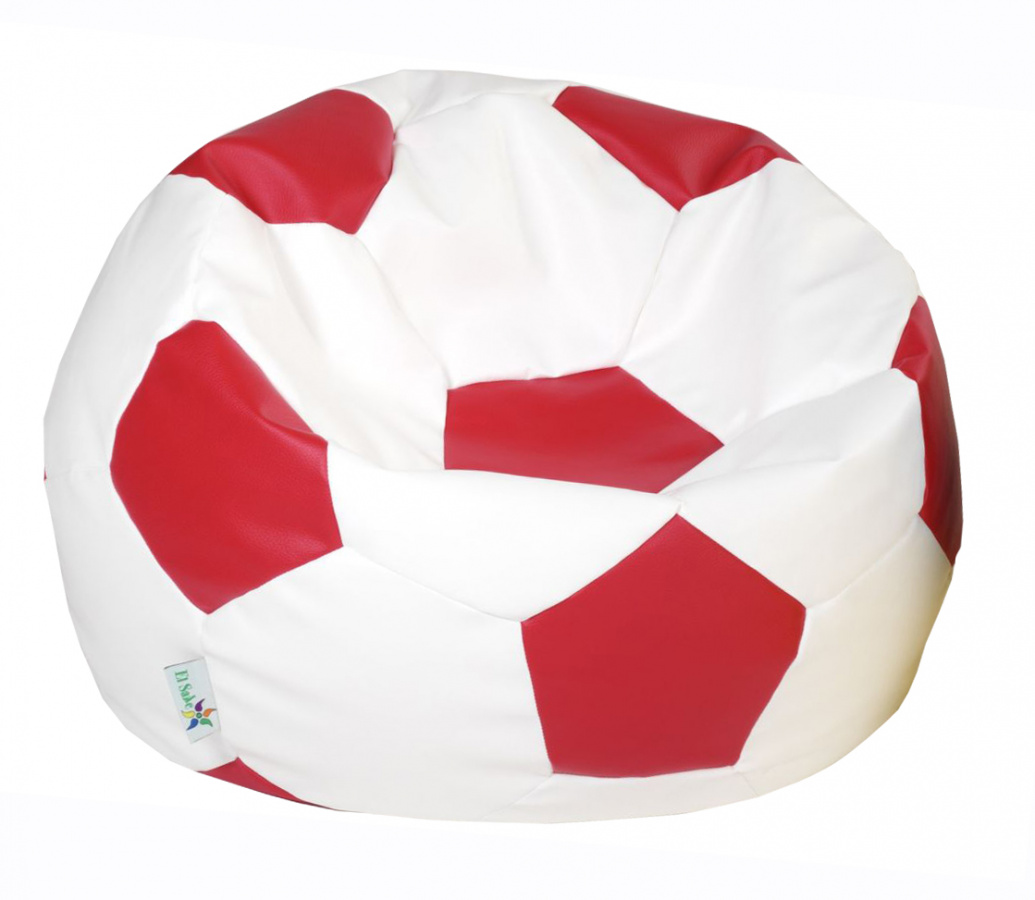 sedací vak EUROBALL velký, SK2-SK7 bílo-červený