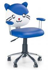 Dětská židle Tom modrá kancelárská stolička