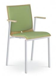 stolička TWIST 252-N2, kostra šedá