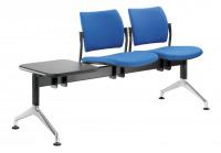 lavice DREAM 140-2T-N1, podnož černá, se stolkem
