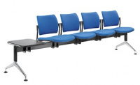 lavice DREAM 140/4T-N2, podnož šedá, se stolkem