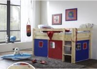 dětská vyvýšená postel 1 - modročervená