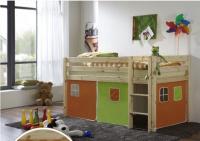dětská vyvýšená postel 5 - zelenooranžová