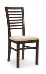stolička GERARD 6 tmavý ořech/torent beige