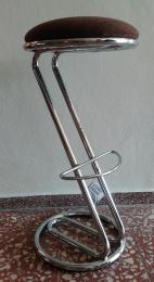 Barová stolička ZEUS L, látka hnědá