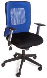 židle CORTE modrá kancelárská stolička
