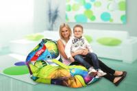 Designový sedací vak 189x140 Abstract s popruhmi