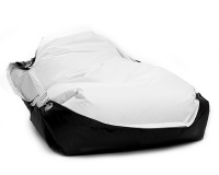 Sedací vak Omni Bag Duo s popruhmi White-Black 181x141