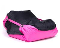 Sedací pytel Omni Bag Duo s popruhy Rose-Black 191x141