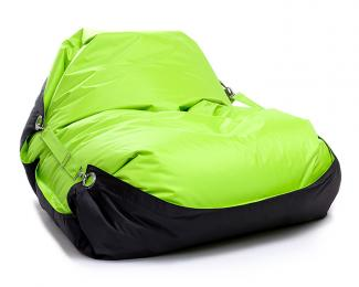 Sedací pytel Omni Bag Duo s popruhy Limet-Black 191x141