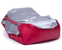 Sedací pytel Omni Bag Duo s popruhy Rubin-Silver 191x141