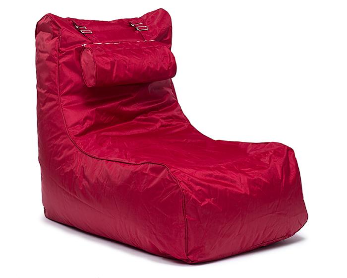 OMNIPULS Sedací pytel Pillow lounge Omni Bag vínově červený