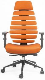 kancelářská FISH BONES PDH černý plast, oranžová SH05