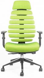 kancelárska stolička FISH BONES PDH čierny plast, zelená SH06