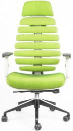stolička FISH BONES PDH šedý plast, zelená SH06