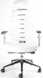 kancelářská FISH BONES PDH šedý plast, bílá koženka PU480329