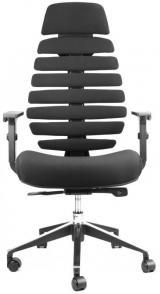 židle FISH BONES PDH černý plast, černá 26-60 kancelárská stolička