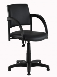 kadeřnická stolička SIGNO pneu čierna